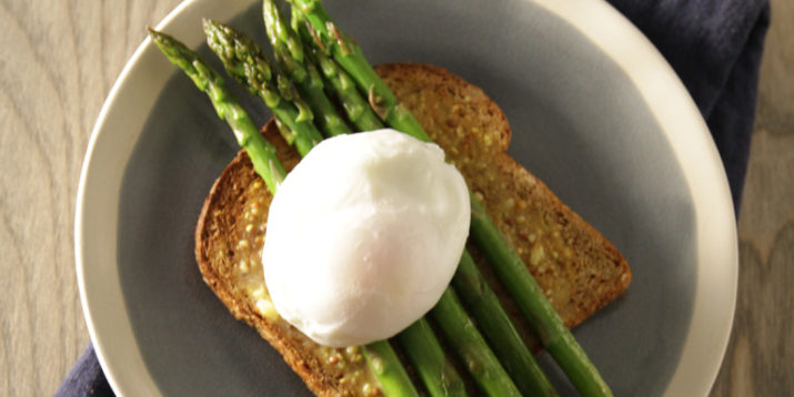 Poached Eggs with Asparagus Toast