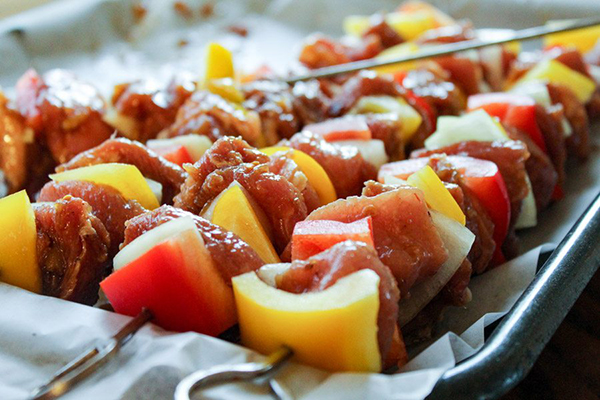 Hawaiian Grilled Pork Kabob