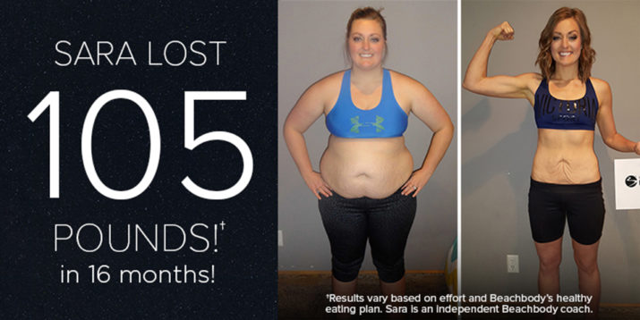 Beachbody Results: Sara R. Lost 105 Pounds in 16 Months!