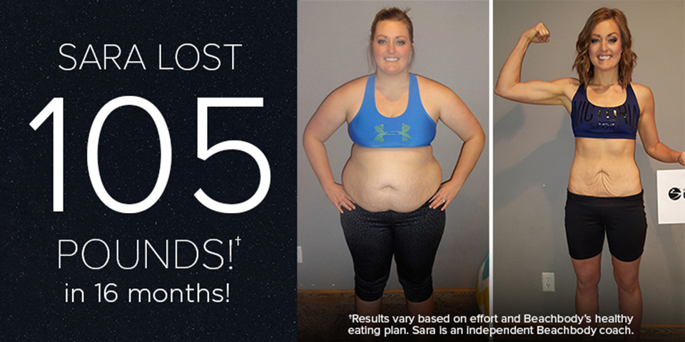 Beachbody Results Sara R Lost 105 Pounds In 16 Months