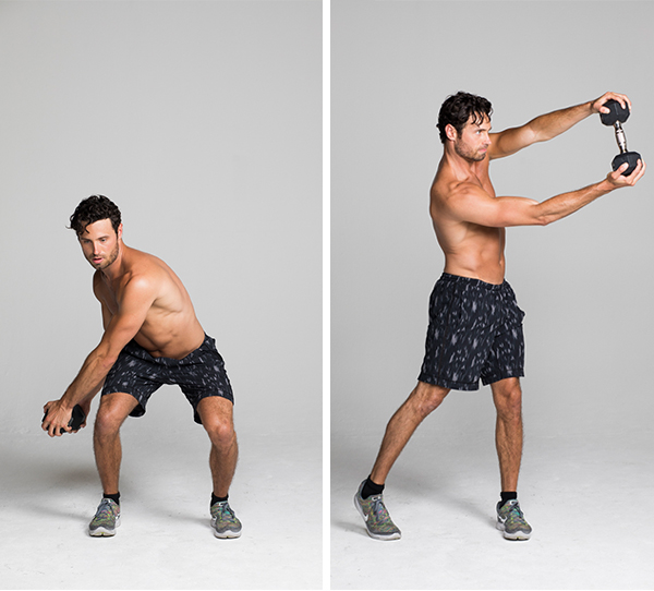 Best Ab Exercises - Low-to-High Dumbbell Chop