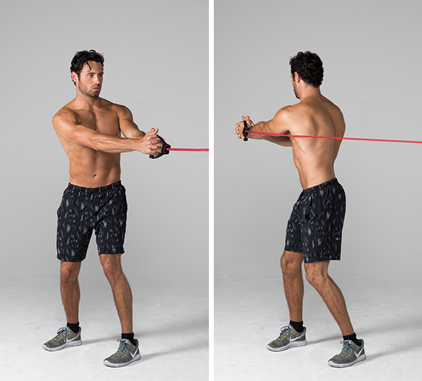 Best Ab Exercises - Standing Band Rotation
