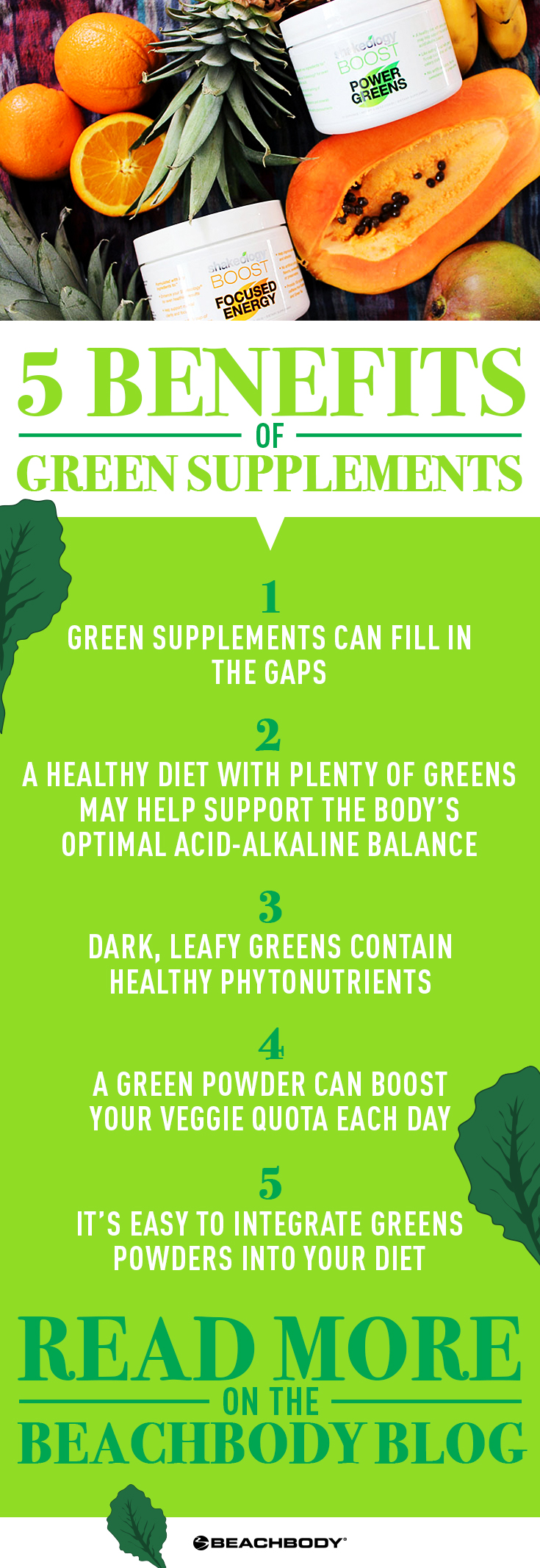Should you drink green supplements? Click to read the blog to find out. Best green supplements // green juice benefits // Shakeology // nutrition tips // Beachbody // Beachbody Blog