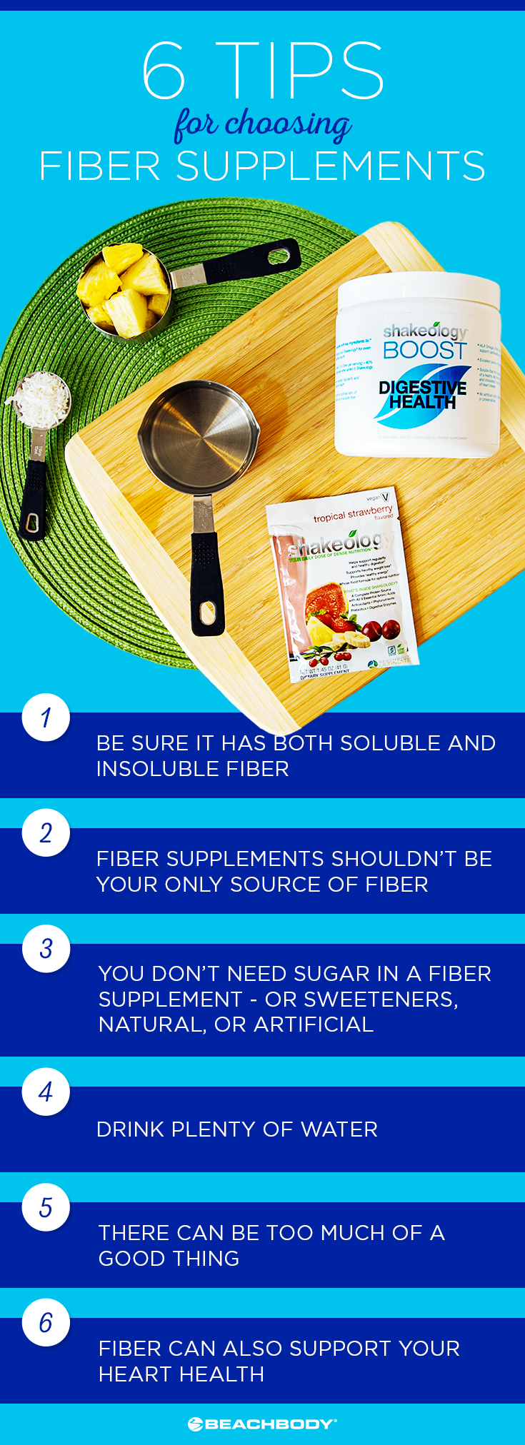 What fiber supplements are right for you? Read the full blog to find out. nutrition tips // foods with fiber // fiber recipes // Shakeology // Beachbody // Beachbody blog