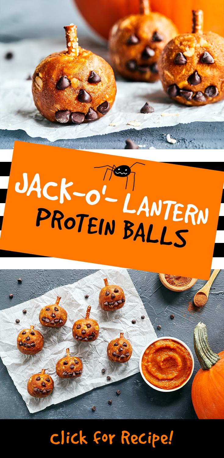 Jack-o'-Lantern Protein Balls