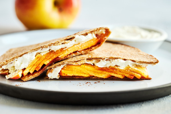 Not only is this Apple Cinnamon Quesadilla recipe a hit with kids, it makes for a quick breakfast, healthy dessert, or a great midday snack.