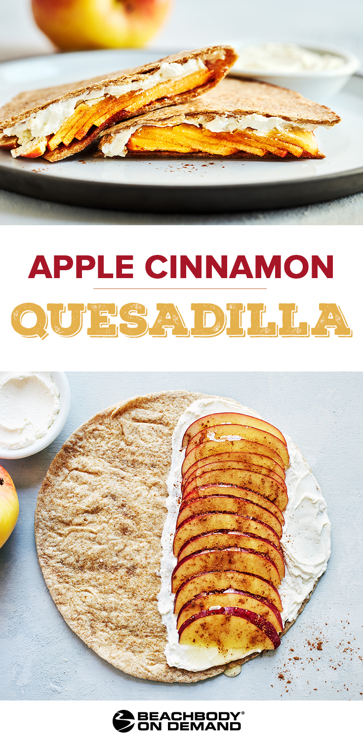 This Apple Cinnamon Quesadilla recipe with apples and cream cheese makes a quick breakfast, healthy dessert, or a great midday snack.