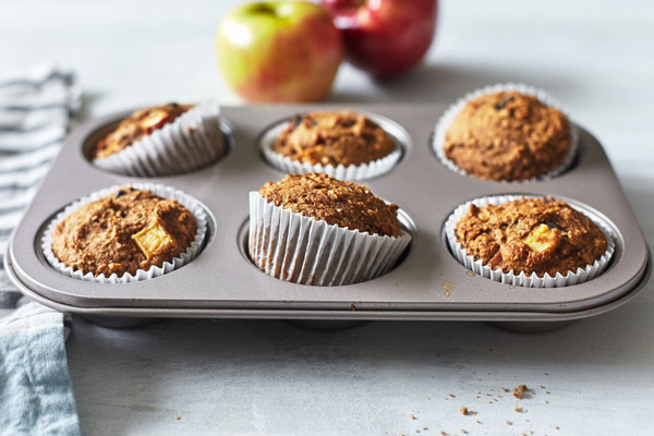 Double Time Family Recipes, healthy apple muffins recipe