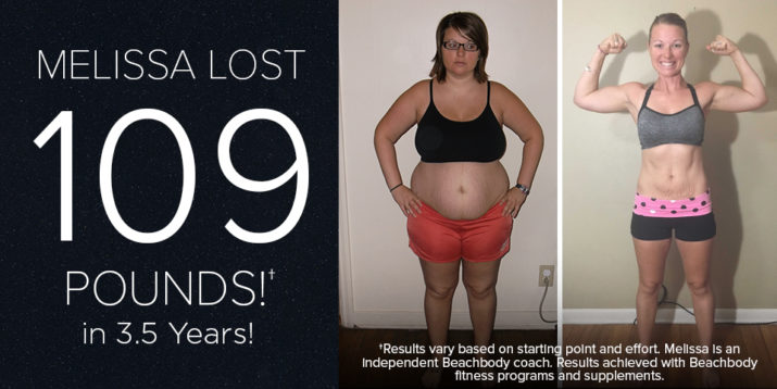 Beachbody Results: Melissa L. Lost 109 Pounds in 3.5 Years!
