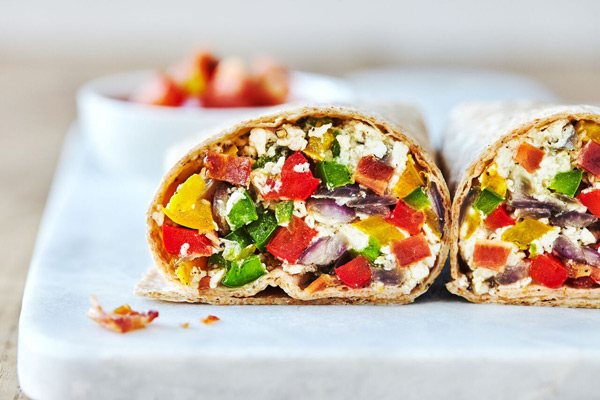 Double Time Family Recipes, healthy breakfast burrito recipe with egg whites and vegetables