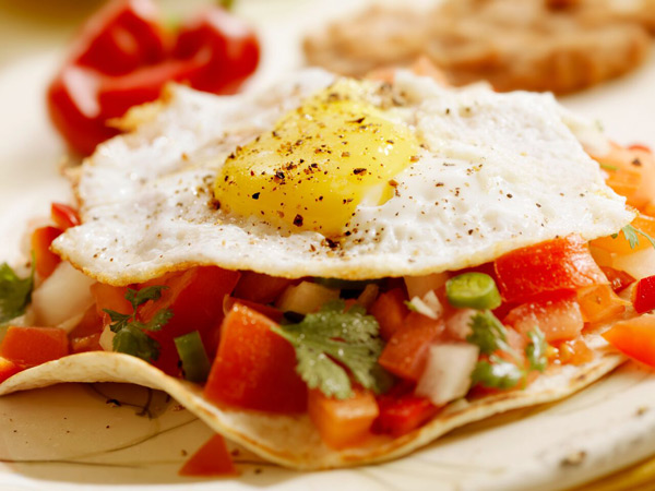 Double Time Family Recipes, Huevos Rancheros egg breakfast recipe