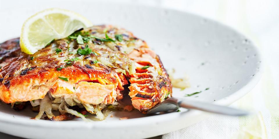 Potato crusted salmon fillets recipe the beachbody blog for Potato crusted fish