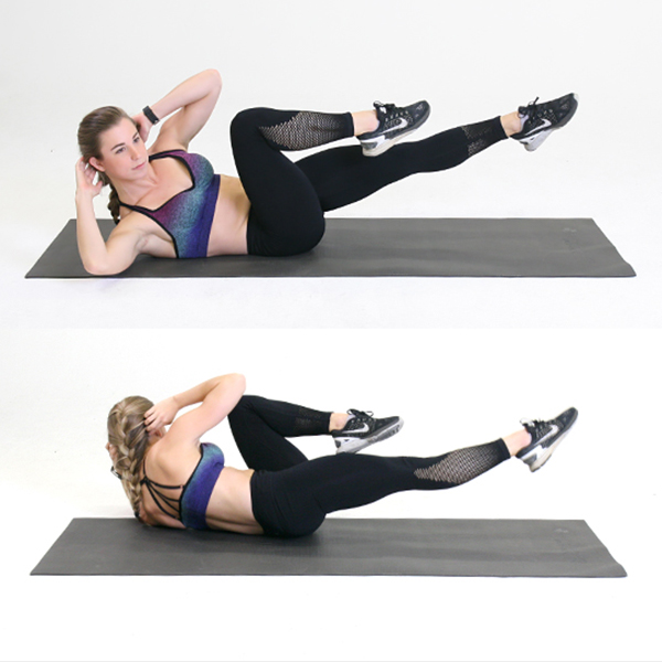 oblique crunch oblique crunches bicycle crunch
