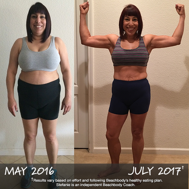 How do you get results like this? Really, it's amazingly simple: get into a Challenge Group doing Beachbody On Demand + Shakeology. Commit to it, and stick to it. That's it! That's how Stefanie (age 50) lost 40 lbs. in 14 months.