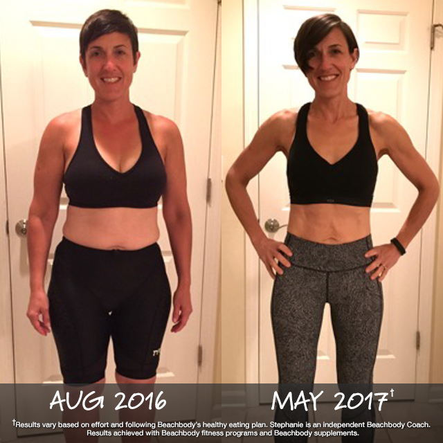 The winning combination of BOD + Portion Fit nutrition + Shakeology strikes again! For Stephanie, it helped her lose the weight and keep it off!Now, at age 45, this working mom in the best shape of her life.