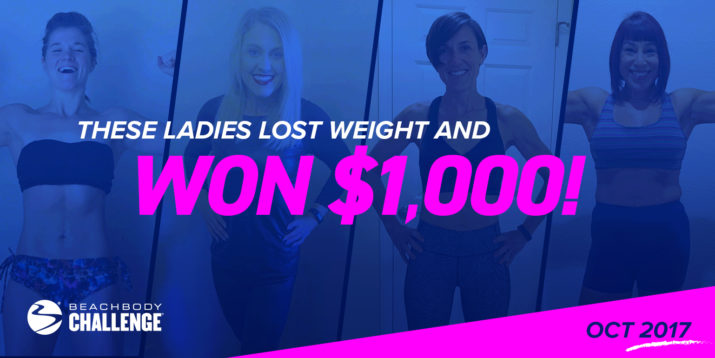 Female Beachbody Challenge Winners, Oct 2017
