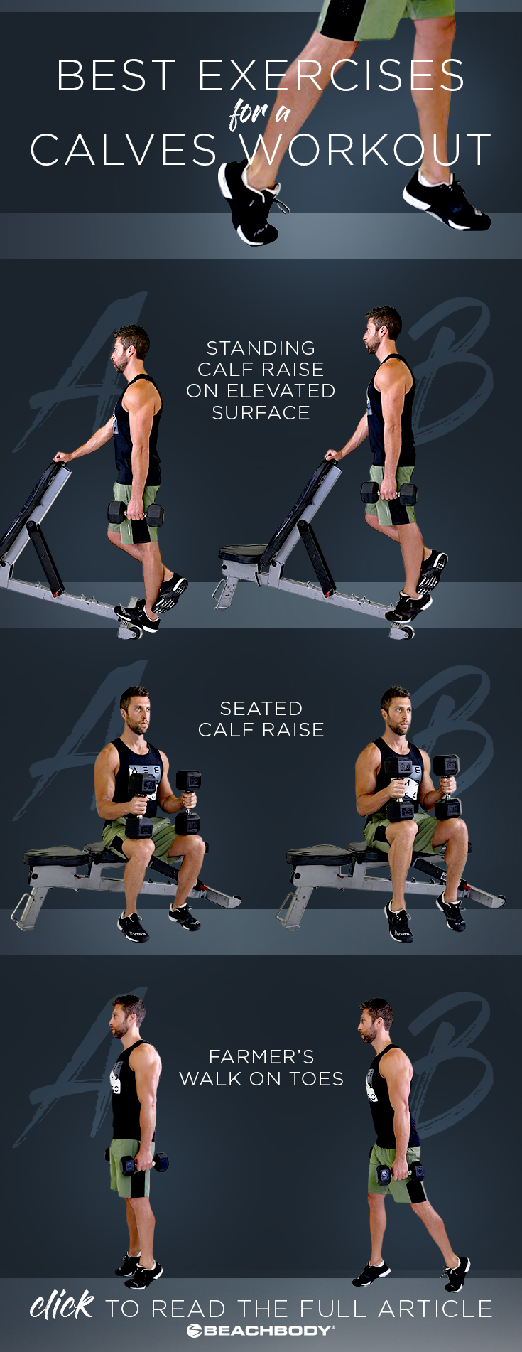 Start building bigger calf muscles with this calves workout at home. The list of exercises and stretches will help you get on your way to building stronger, more defined calf muscles.