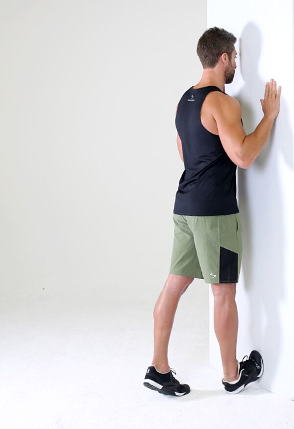 Sore Calves - Standing Wall Calf Stretch