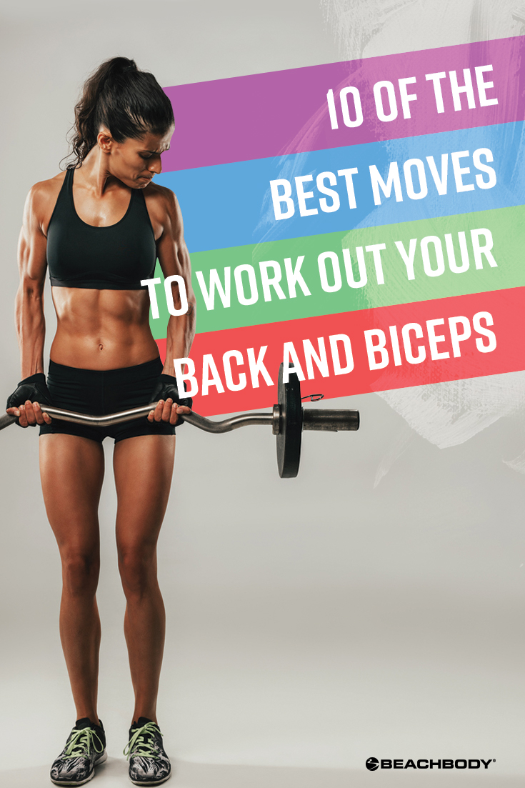 Strong back and biceps can be a huge help in your daily life. Here are 10 of the best moves to add to your next back and biceps workout.