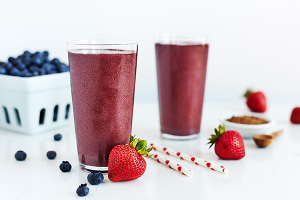 Strawberry Thunder Shakeology in a glass