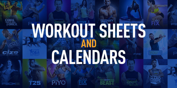graphic relating to Printable P90x Workout Schedule named Work out Logs, Work out Sheets, and Calendars The Beachbody Website