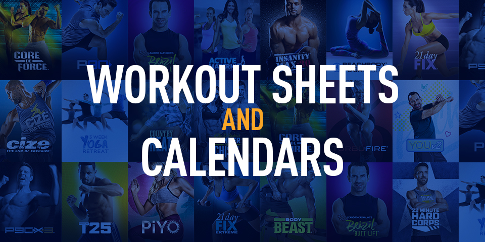 workout logs workout sheets and calendars the beachbody blog
