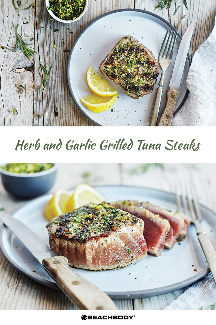 For a restaurant-quality meal in less time than it takes to order takeout try these Herb and Garlic Grilled Tuna Steaks.