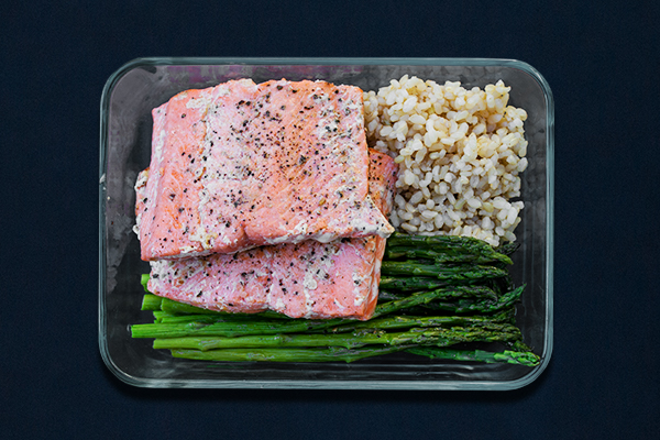 Post-Workout Meals for 80 Day Obsession, Salmon, Asparagus, and Brown Rice