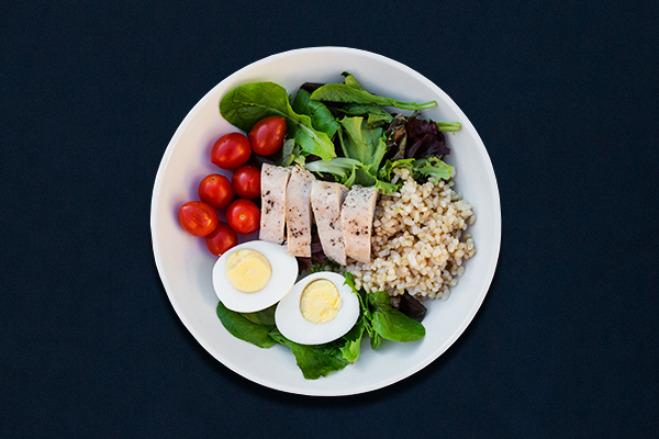 Post-Workout Meals for 80 Day Obsession, Chicken and Egg Grain Bowl