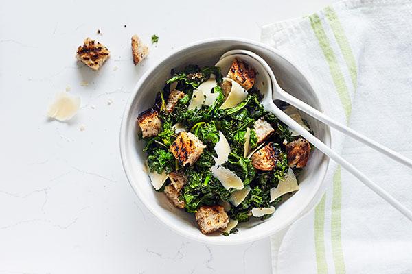 Easy Healthier Caesar Salad