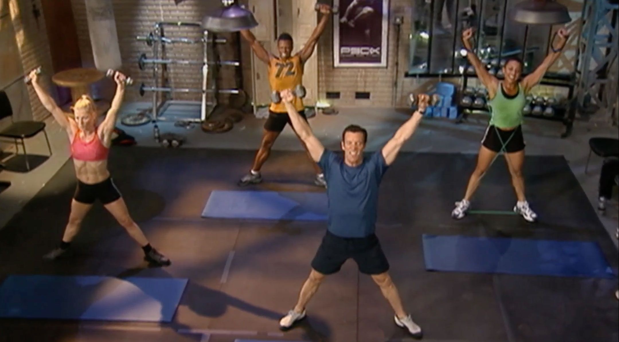 squat x press | tony horton | p90x core synergistics