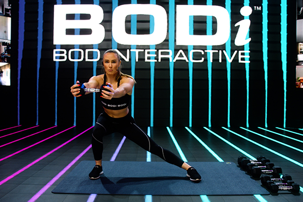 Beachbody Super Trainer Megan Davies on the set of BODi