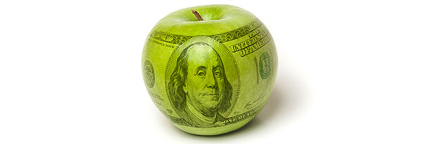 granny smith apple 100 dollar bill