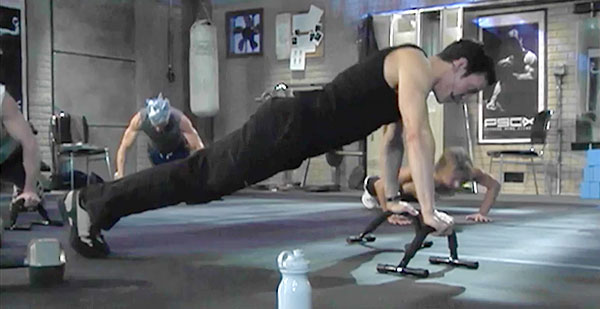 p90x chest and back | tony horton | push up