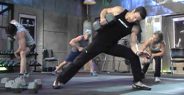 p90x chest and back | tony horton | lawnmower