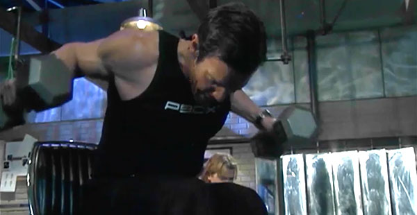 p90x chest and back | tony horton | reverse fly