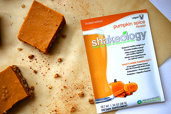 Pumpkin Spice Vegan Shakeology bars