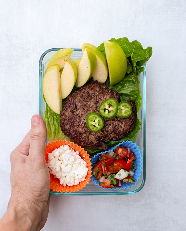 LIIFT4 Meal Prep Spicy Feta Burger