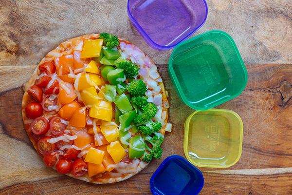 Rainbow Flatbread Pizza