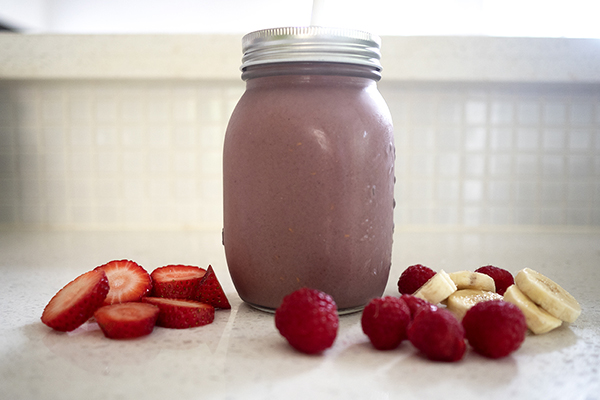 Banana raspberry Shakeology recipe