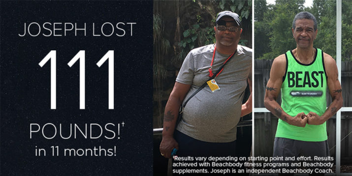 Joseph Lost 111 Pounds in 11 Months — at Age 65