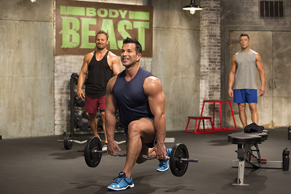 Body Beast's Sagi Kalev lifting weights