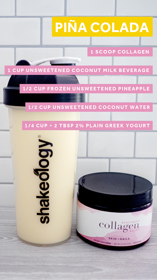 Pina Colada Shakeology With Collagen Boost
