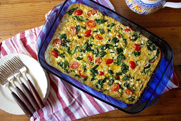 Spinach Tomato Quinoa Casserole