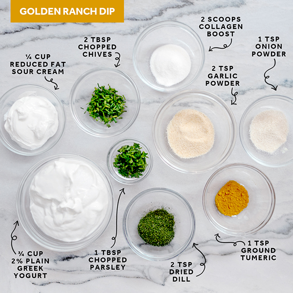 Golden-Ranch-Dip With Collagen Boost
