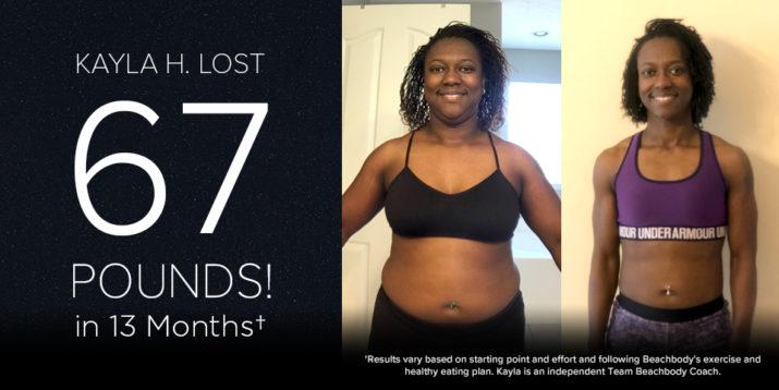 Kayla H. Lost 67 Pounds in 13 Months