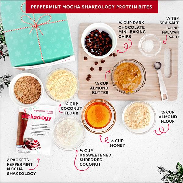Peppermint Mocha Shakeology Protein Bites