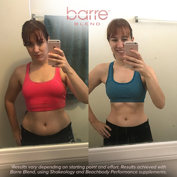 Before and after photos for Barre Blend