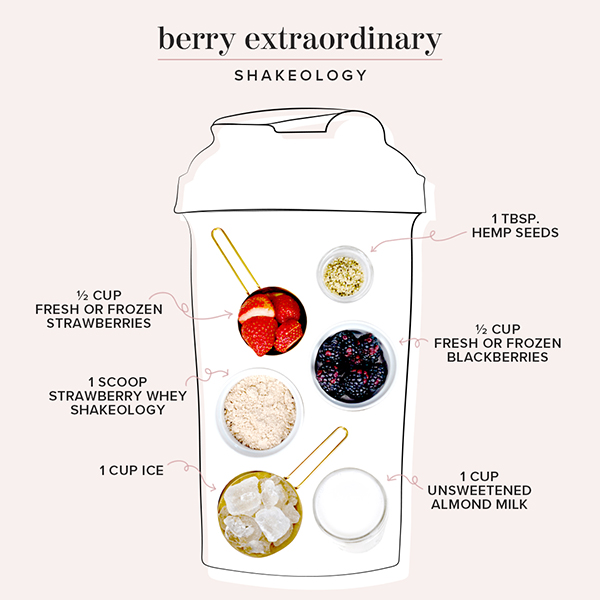 berry shakeology ingredients in shaker cup