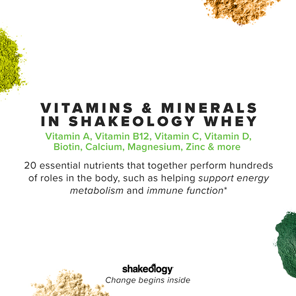 Vitamins and minerals in Shakeology